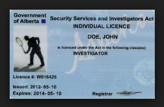 Security licences from participating registries in Alberta